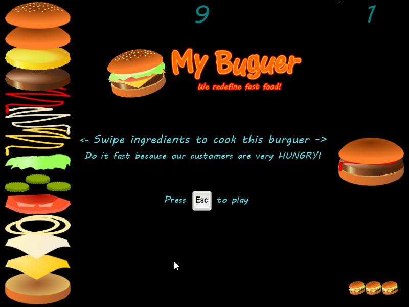 My Burger main screen